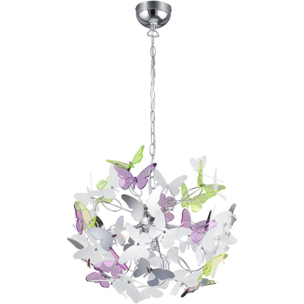 LED Hanglamp - Trion Baduli - G9 Fitting - 4-lichts - Rond - Glans Chroom - Aluminium
