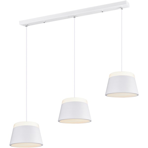 LED Hanglamp - Trion Barnaness - E14 Fitting - 6-lichts - Rond - Mat Wit - Aluminium