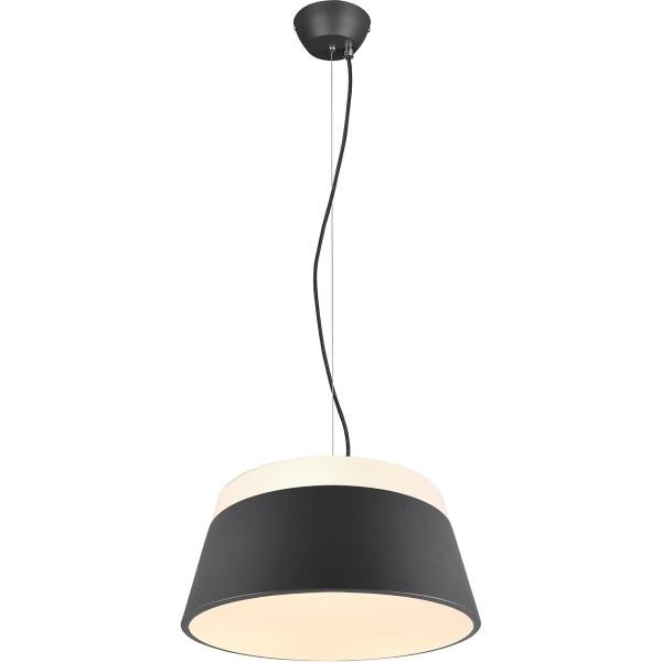 LED Hanglamp - Trion Barnaness - E27 Fitting - 3-lichts - Rond - Mat Zwart - Aluminium