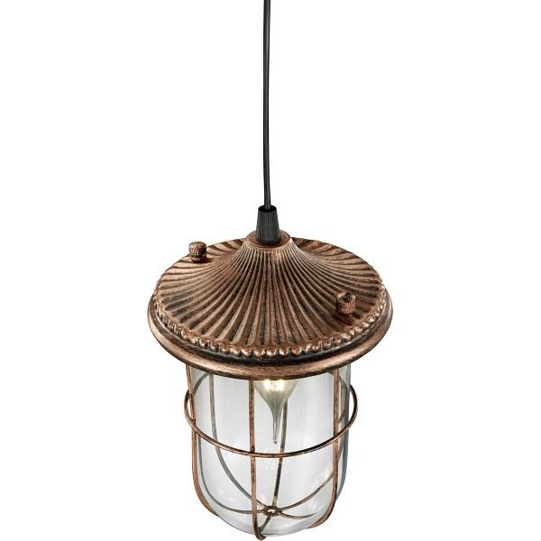 LED Hanglamp - Trion Brinity - E14 Fitting - Rond - Antiek Koper - Aluminium