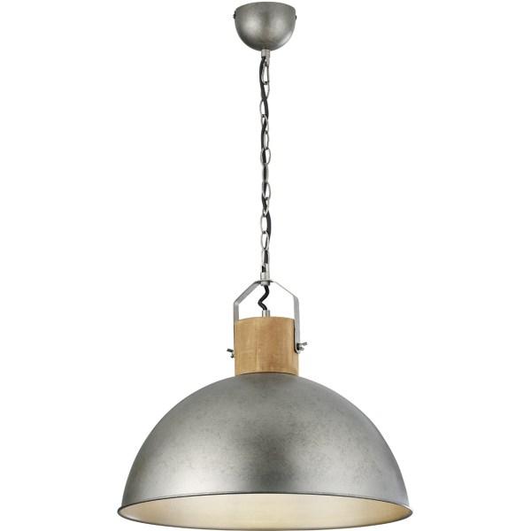 LED Hanglamp - Trion Delvira - E27 Fitting - 1-lichts - Rond - Antiek Nikkel - Aluminium