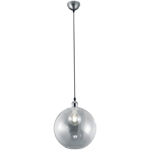 LED Hanglamp - Trion Dini - E27 Fitting - Rond - Mat Nikkel - Aluminium