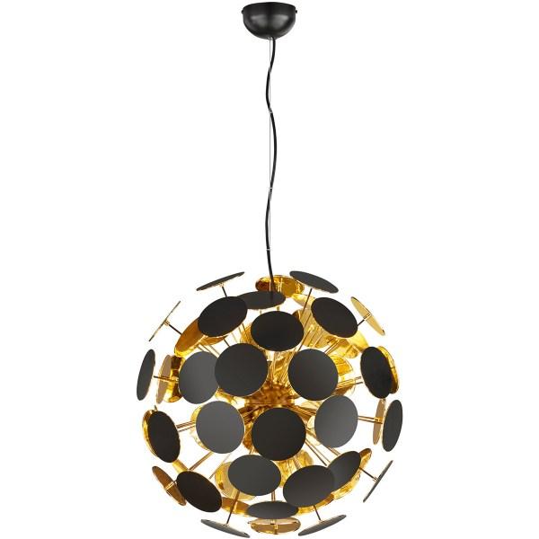 LED Hanglamp - Trion Discon - E14 Fitting - 6-lichts - Rond - Mat Zwart - Aluminium