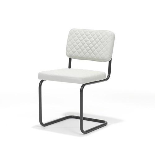 RV Design Pure zwart frame Kunstleer Ivoor