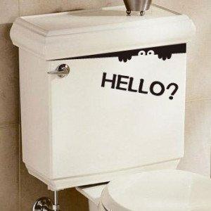 トイレ 覗き見 ウォールステッカー