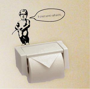 トイレ ウォールステッカー