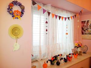 子供の部屋のハロウィン飾り付け