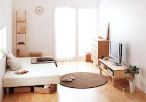 一人暮らしの北欧テイストの部屋1
