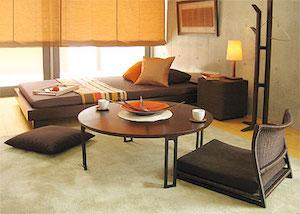 一人暮らしのアジアンテイストの部屋