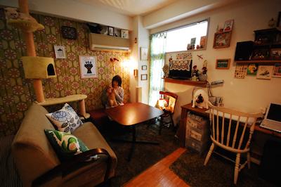 スペースをうまく利用した女性の一人暮らしの部屋