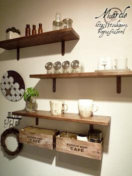 カフェ風インテリアに合う飾り棚をDIYする術