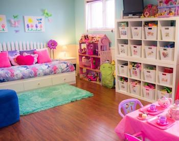 子供も片付れるアイデアのある女の子の子供部屋