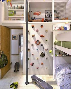 男の子の体力作りができるおしゃれな子供部屋の画像