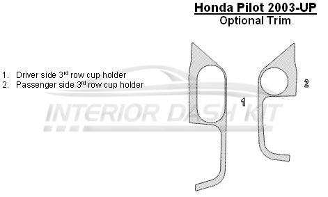 Honda Accord 2008-2012 Dash Trim Kit (Full Kit, 4 Door