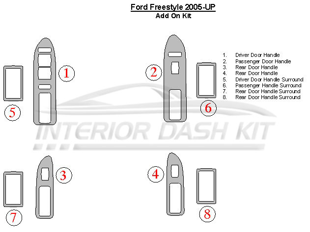 Ford Freestyle 2005-2007 Dash Trim Kit (Handle Add On Kit
