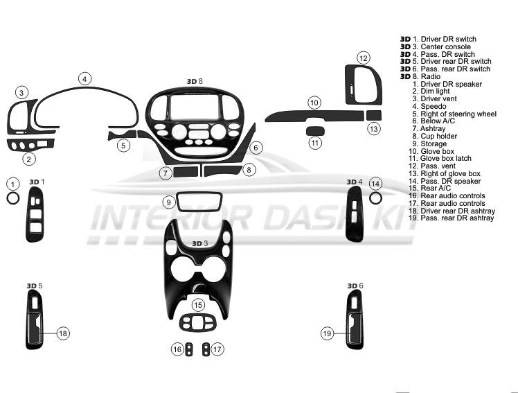 Toyota Sequoia 2005-2007 Molded Dash Kit