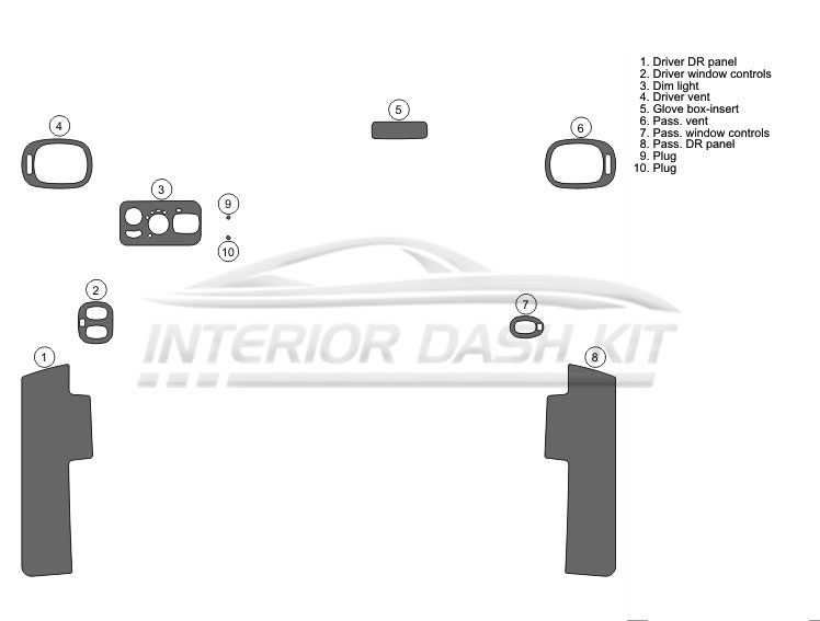 Dodge Caravan 2001-2007 Flat Upgrade for Molded Kit