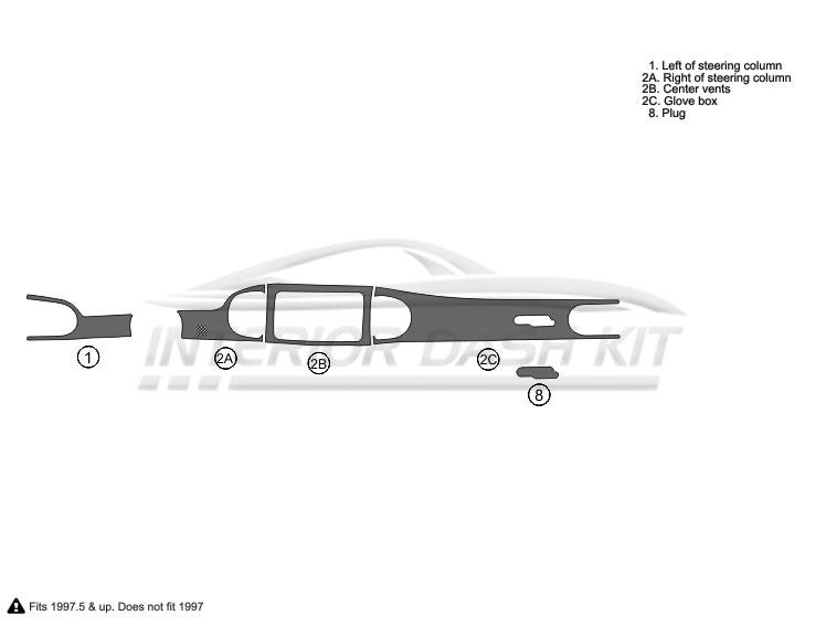 Buick Century 1997-2005 Dash Trim Kit (Basic Kit, 4DR