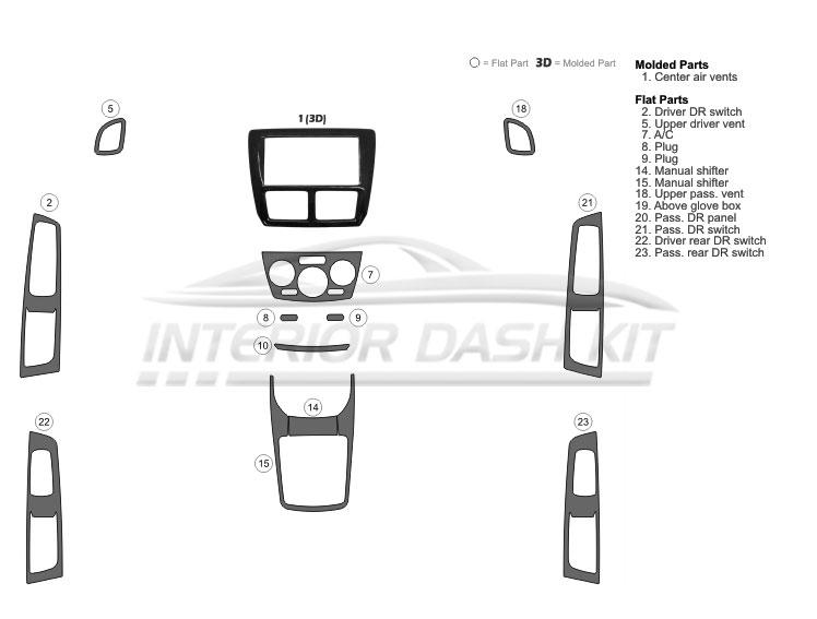 Subaru Impreza 2008-2011 Molded Combo Dash Kit (Basic Kit