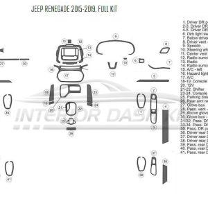 Chrysler PT Cruiser 2006-2010 Dash Trim Kit (Full Kit, Not
