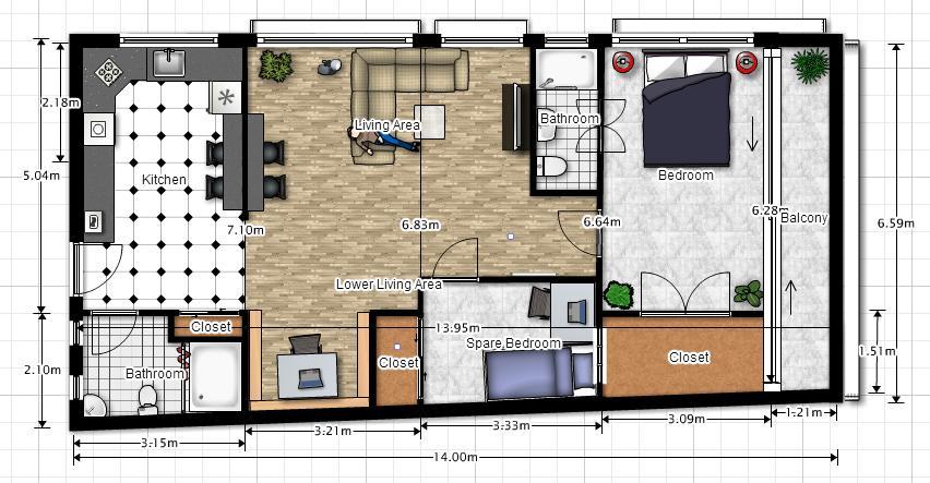 Apartment Layout Plan Interior Design Project