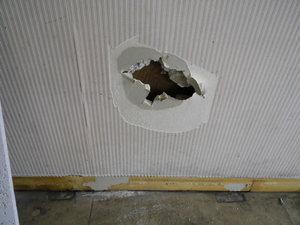 壁の穴の補修(京都市伏見区)
