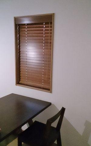 木製ブラインド 取付工事