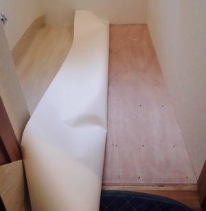 トイレの床にクッションフロアー (宇治市)