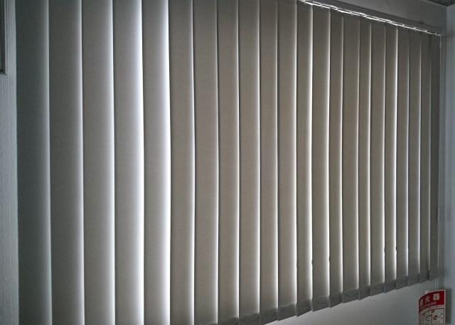 事務所のブラインドを縦型ブラインドに取替(京都市伏見区)