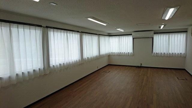 事務所のカーテンレール&遮熱レース(京都市山科区)