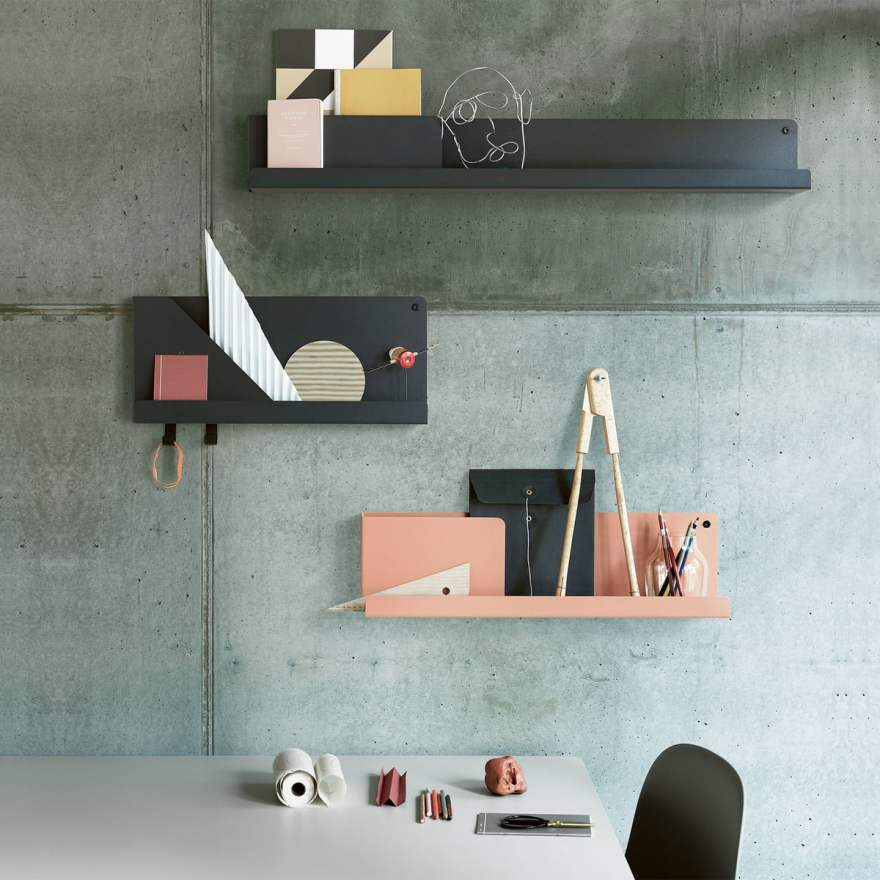 Single Sheet Folded Shelf Design by Johan Van Hengel for Muuto