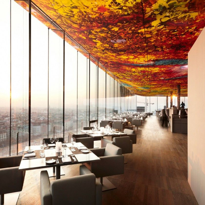 Best Ceiling Ever – Sofitel Stephansdom Vienna Hotel Restaurant by Architect Jean Nouvel and Artist Pipilotti Rist