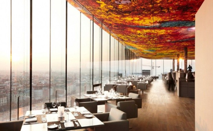 Sofitel Stephansdom Hotel Restaurant in Vienna by Jean Nouvel and Pipilotti Rist