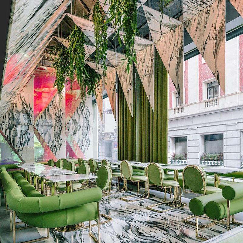 A Futuristic Marble Interior Design Dream –  ROMOLA in Madrid by Architect Andrés Jaque