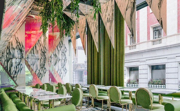 Romola Restaurant in Madrid by Andrés Jaque - Marble Interior