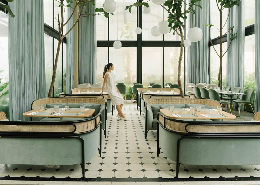 Enjoy a Tropical Coffee in the Harlan + Holden Glasshouse Cafe in Manila by Design Duo GamFratesi