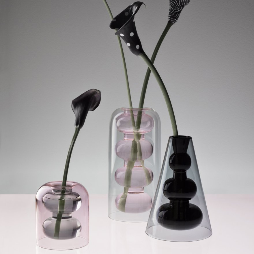 Playful  Double-Walled Glass – Bump Vase Designs by Studio Tom Dixon
