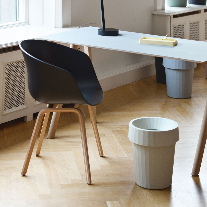 A Geometric Beauty – Shade Waste Bin Design by Thomas Bentzen for Danish Design House Hay