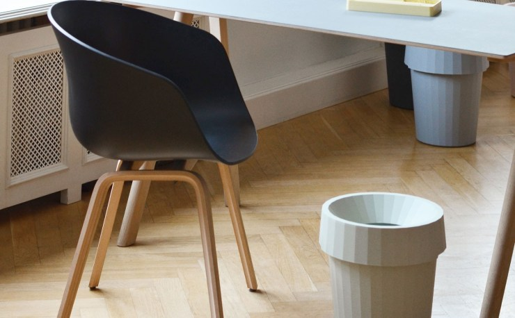 A Geometric Beauty - Shade Waste Bin Design by Thomas Bentzen for Danish Design House Hay, Interior 3000 Design Blog, Interior Design, Furniture Design