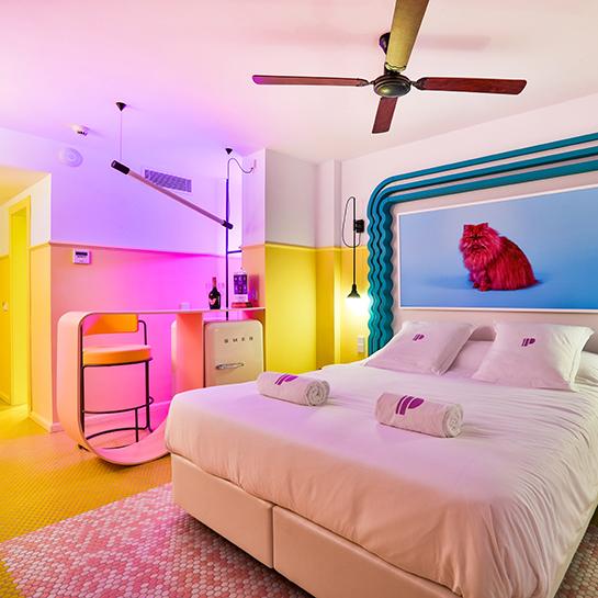 A Pastel Memphis Miami Dream – Paradiso Ibiza Art Hotel Interior Design by Ilmiodesign