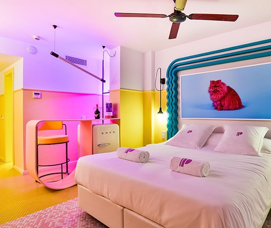 A Pastel Memphis Miami Dream - Paradiso Ibiza Art Hotel Interior Design by Ilmiodesign, Interior 3000 Design Blog, Interior Design, Furniture Design