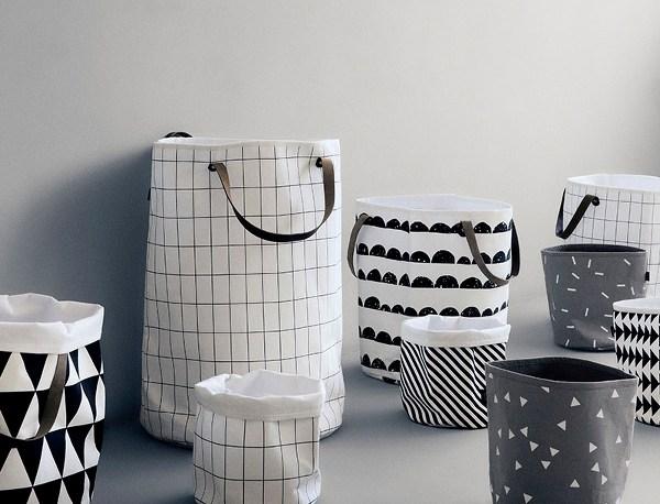 Ferm Living Grid Design Collection - Wallpaper, Shower Curtain and Basket, Interior 3000 Design Blog Interior Design, Furniture Design