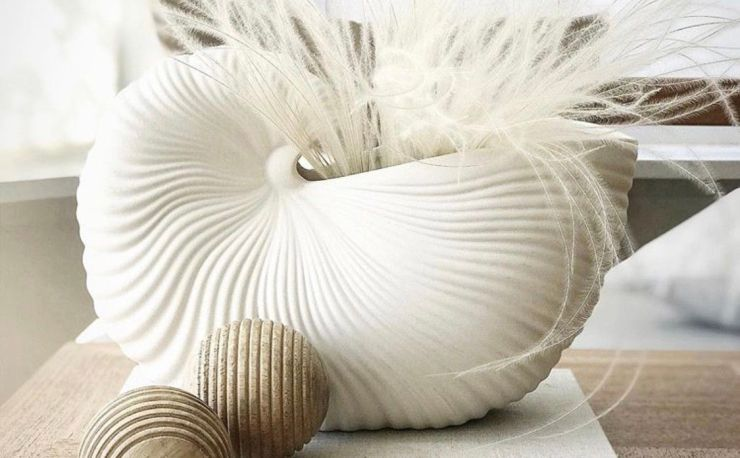 Create an Eye-Catching Aquatic Ambience with the Ceramic Shell Pot Design by Ferm Living Interior 3000 Design Blog Interior Design Furniture Design
