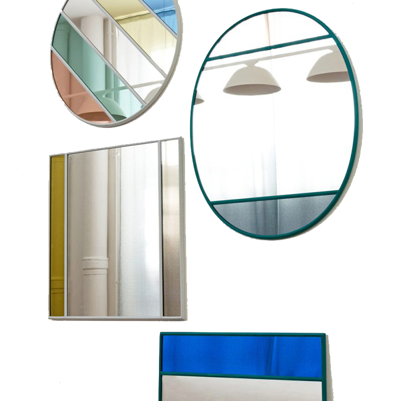 Fun Mirror Plays with Colors and Reflections – Vitrail Mirror Design by Inga Sempé for Magis