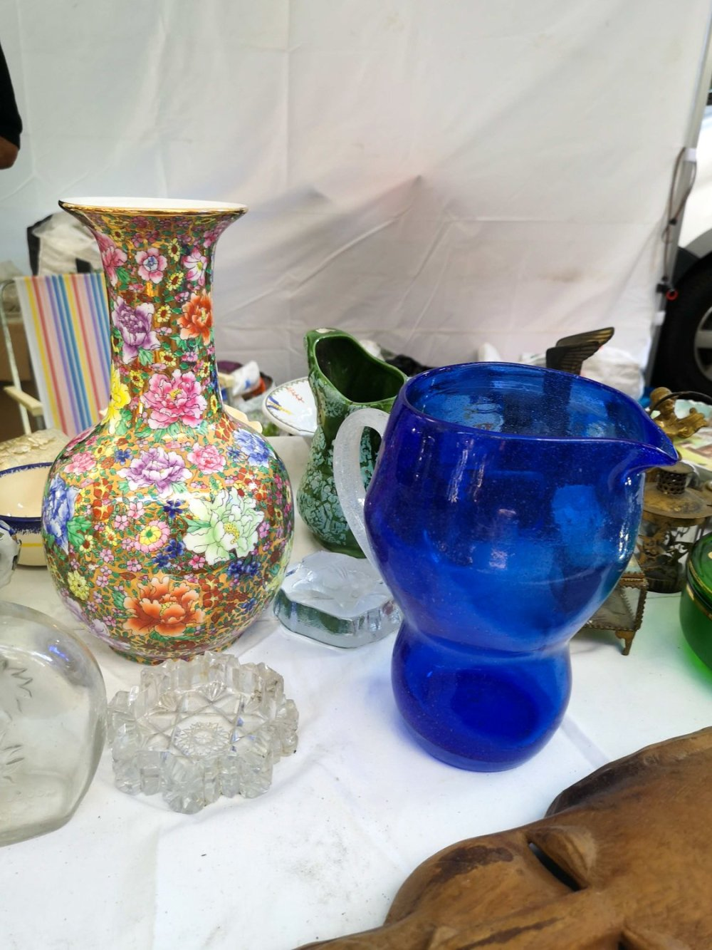 frilly vase at the lille flea market