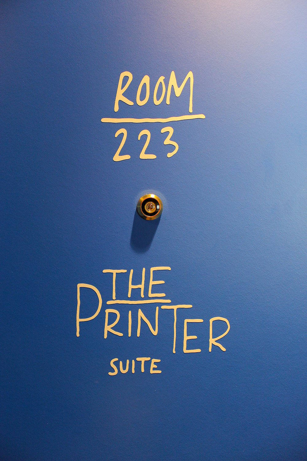 Entrance to The Printer Suite at the Ink Hotel Amsterdam
