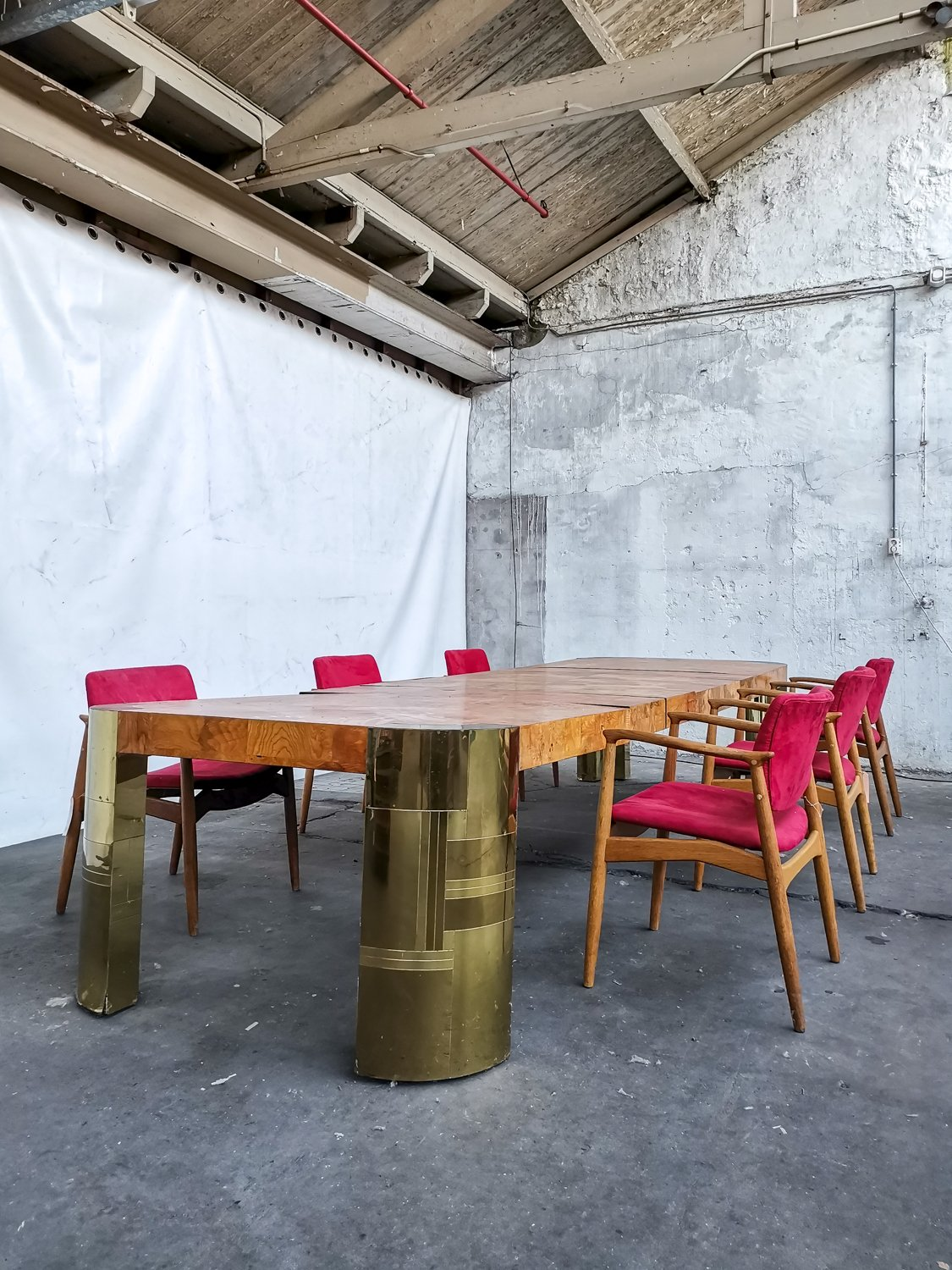 Brass dining room table
