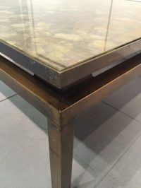 Low Square Coffee Table in Patinated Bronze | Interior ...