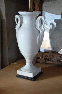 Antique White Porcelain Limoges Lamp | Interior Boutiques ...