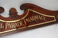 Antique Victorian Pharmacy Shop Glass Advertising Sign ...